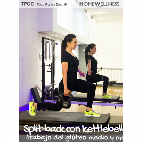 Split-back con kettlebell